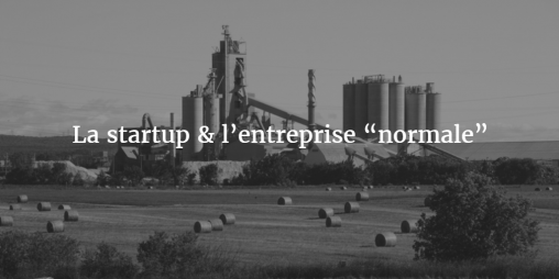 """La startup & l'entreprise """"normale"""""""
